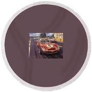 Cma 051 1962 Le Mans Ferrari 330 Driver Phil Hill Roy Rob Round Beach Towel