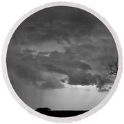 Co Cloud To Cloud Lightning Thunderstorm 27 Bw Round Beach Towel