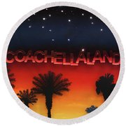 Coachellaland Round Beach Towel