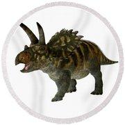 Coahuilaceratops Profile Round Beach Towel