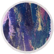 Coal And Gold Round Beach Towel