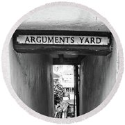 Coast - Arguments Yard, Whitby, England Round Beach Towel