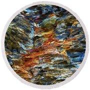Coast - Color Of Rock Round Beach Towel