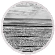 Coast - Horizon Lines Round Beach Towel
