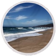 Coast Line Round Beach Towel