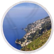 Coast Of Amalfi Round Beach Towel