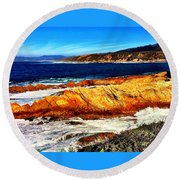 Coastal Abstraction Round Beach Towel
