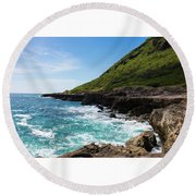 Coastal Drive Round Beach Towel