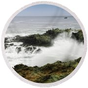 Coastal Expressions Round Beach Towel
