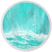 Coastal Inspired Art Round Beach Towel