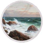 Coastal Landscape. Round Beach Towel