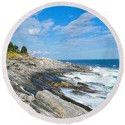 Coastal Maine Round Beach Towel