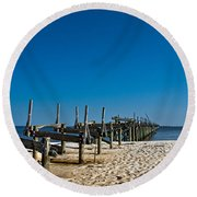 Coastal Remains Round Beach Towel