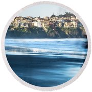 Coastal Scenes At Usa Pacific Coast Round Beach Towel