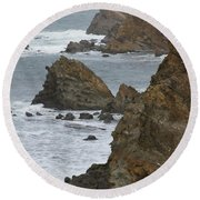 Coastal Storm Round Beach Towel