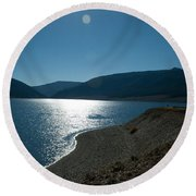 Coastal View Round Beach Towel