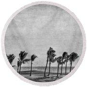 Coastal Winds Round Beach Towel by Evelina Kremsdorf