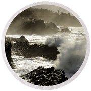 Coastline Oregon Round Beach Towel