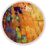 Cobble Stones In Color Round Beach Towel