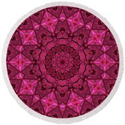 Cobbled Roses Round Beach Towel