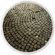 Cobblestone Round Beach Towel