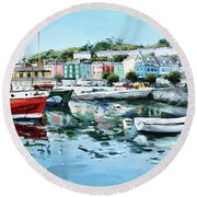 Cobh Harbour County Cork Round Beach Towel