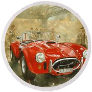 Cobra At Brooklands Round Beach Towel