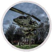 Cobra Helicopter Bristol Va Round Beach Towel