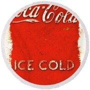 Coca-cola Cooler Round Beach Towel