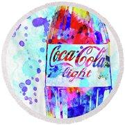 Coca Cola Light Round Beach Towel