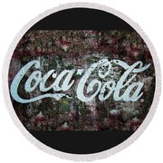 Coca Cola Wall Round Beach Towel