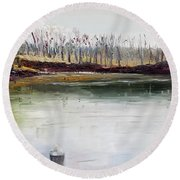 Cocheco Bend Round Beach Towel