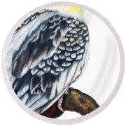Cockatiel 2 Round Beach Towel