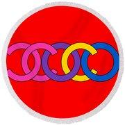 Coco Chanel-8 Round Beach Towel