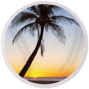 Coco Mo Tropical Sunrise Round Beach Towel