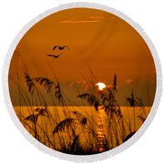 Cocoa Morning Round Beach Towel