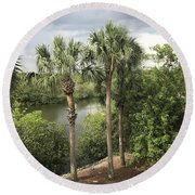 Cocohatchee River  Round Beach Towel