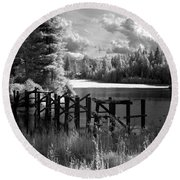 Cocolala Creek Slough 2 Round Beach Towel