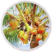 Coconut Tree Round Beach Towel