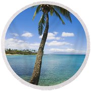 Coconut Tree Round Beach Towel