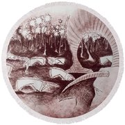 Coconut's Forest Round Beach Towel