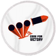 Code For Victory - Ww2 Round Beach Towel