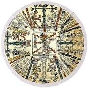 Codex Fej�rv�ry-mayer, 15th Century Round Beach Towel