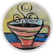 Coffee Cup Four Round Beach Towel