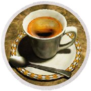Coffee - Id 16217-152032-0430 Round Beach Towel