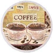 Coffee Love-jp3592 Round Beach Towel