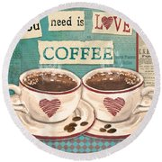 Coffee Love-jp3593 Round Beach Towel