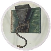 Coffee Mill Round Beach Towel