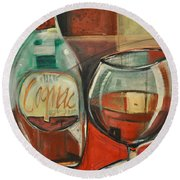 Cognac Round Beach Towel