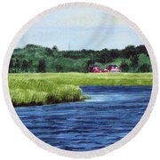 Cohansey River Round Beach Towel
